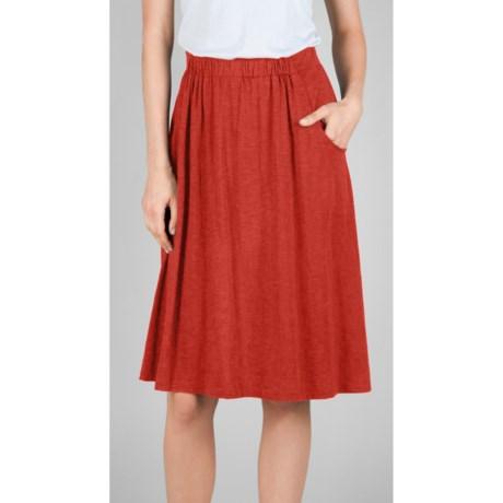 Lilla P Flame Midi Pocket Skirt - Pima Cotton-Modal (For Women)
