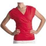Lilla P Surplice Shirt - Pima Cotton Jersey, Flutter Sleeve (For Women)
