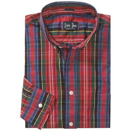 Gitman Brothers Tailored Fit Sport Shirt - Button Down, Long Sleeve (For Men)