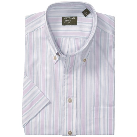 Gitman Brothers Button Down Sport Shirt - Short Sleeve (For Men)