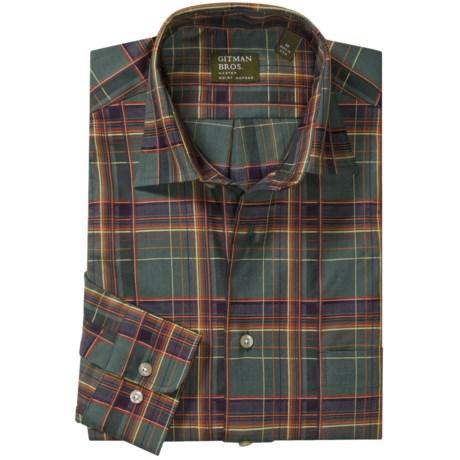 Gitman Brothers Cotton Sport Shirt - Spread Collar, Long Sleeve (For Men)