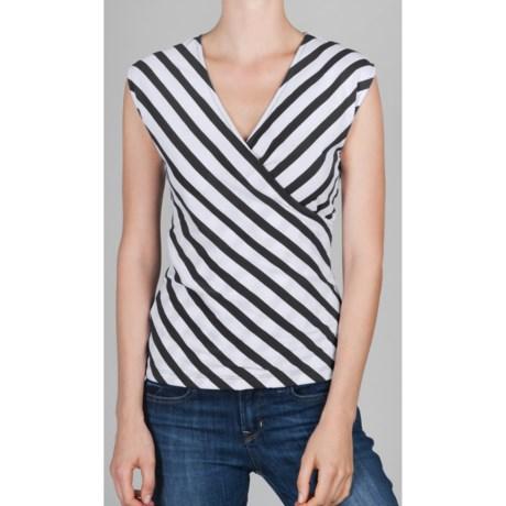 Lilla P Striped Surplice Tank Top - Pima Cotton (For Women)