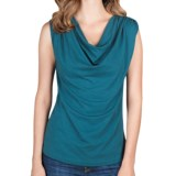 Lilla P Drape-Neck Tank Top - Pima Cotton-Modal (For Women)
