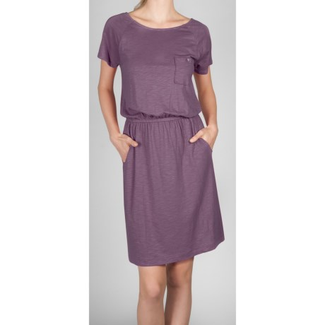 Lilla P Flame Pocket Dress - Pima Cotton-Modal, Short Sleeve (For Women)