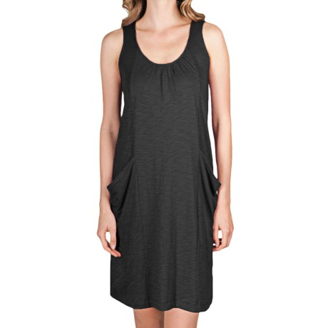 Lilla P Flame Seamed Pocket Shift Dress - Slub Cotton-Modal (For Women)