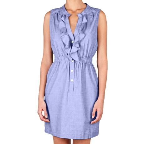 Lilla P Woven Shirt Dress - Cotton, Sleeveless (For Women)