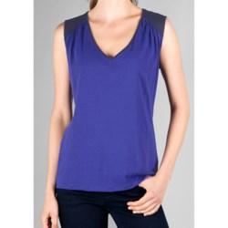 Lilla P Color Block Tank Top - Whisper-Weight Pima Cotton (For Women)