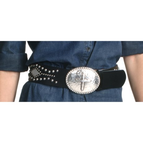 Ariat Tesoro Belt - Leather, Pounded Silver Buckle (For Women)