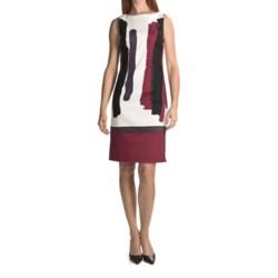 Chetta B Paintbrush Sheath Dress - Stretch Cotton (For Women)
