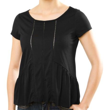 Silver Jeans Ladder Tape T-Shirt - Short Sleeve (For Women)