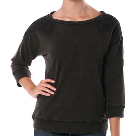 Silver Jeans Pullover Shirt with Crochet - Lightweight, 3/4 Sleeve (For Women)