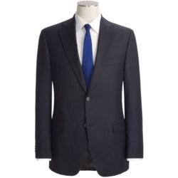 Jack Victor Beaded Shadow Stripe Suit - Loro Piana Wool (For Men)