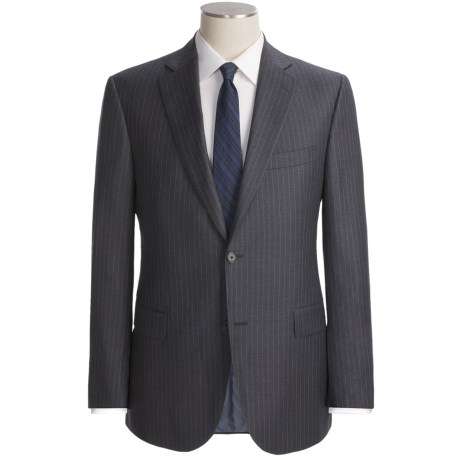 Jack Victor Stripe Suit - Trim Fit, Loro Piana Wool (For Men)