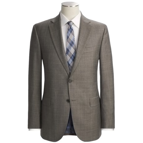 Jack Victor Trim Fit Windowpane Suit - Loro Piana Wool (For Men)