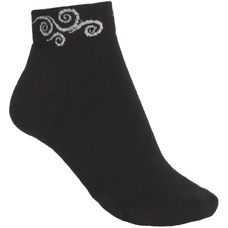 Point6 Swirls Socks - Merino Wool, Quarter-Crew (For Women)