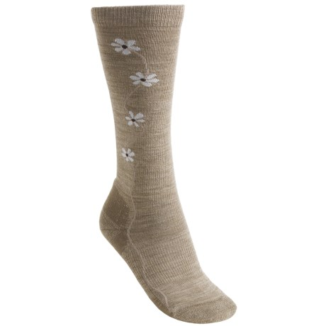 Point6 Fleur D'vine Socks - Merino Wool, Over-the-Calf (For Women)