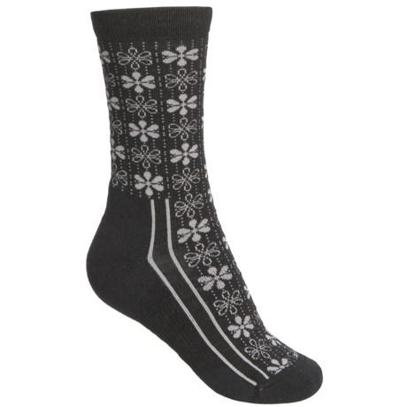 Point6 Snowflake Socks - Merino Wool, Crew (For Women)