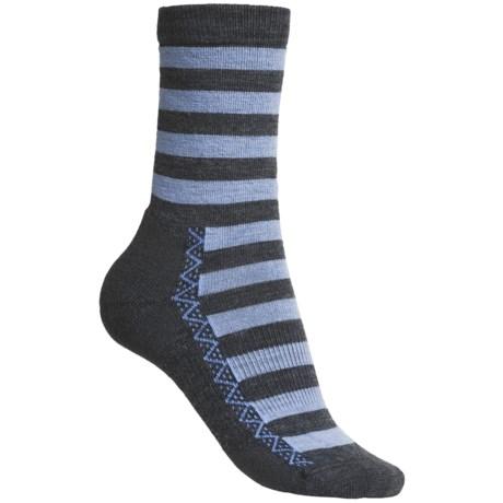 Point6 Nautical Stripe Socks - Merino Wool, 3/4-Crew (For Women)