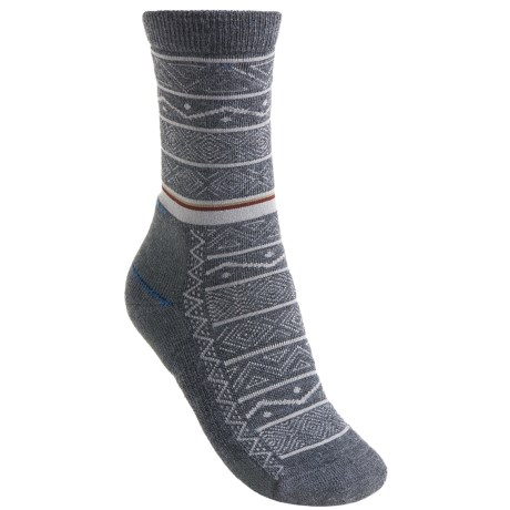 Point6 Nordic Stripe Light Socks - Merino Wool, 3/4-Crew (For Women)
