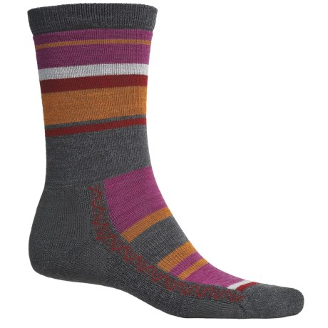Point6 Multi Stripe Socks - Merino Wool Blend, Crew (For Men and Women)