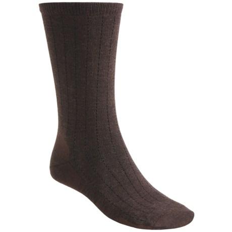 Point6 Vertical Pinstripe Ultralight Socks - Merino Wool, Crew (For Men and Women)