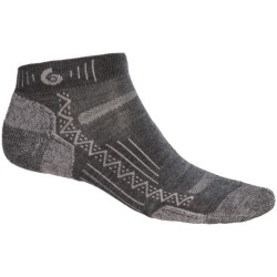 Point6 Hiking Tech Mini Socks - Merino Wool Blend, Ankle (For Men and Women)