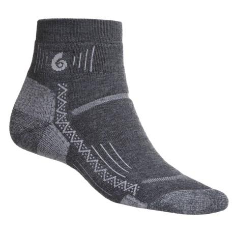 Point 6 Point6 Hiking Tech Mini Crew Socks - Merino Wool Blend, Quarter Crew (For Men and Women)