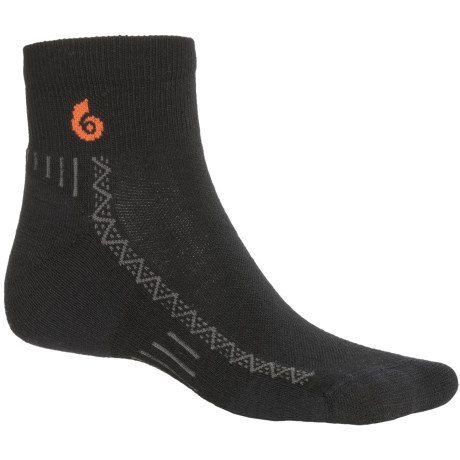 Point6 Lightweight Mini Cycling Socks - Merino Wool Blend, Quarter Crew (For Men and Women)