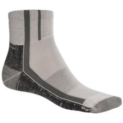 Point6 Cycling Light Socks - Merino Wool, Quarter-Crew (For Men and Women)