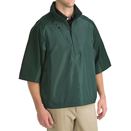 Zero Restriction Mix Half-Sleeve Pullover - Zip Neck (For Men)