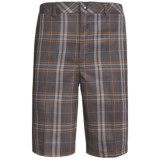 Zero Restriction Plaid Tech Shorts (For Men)