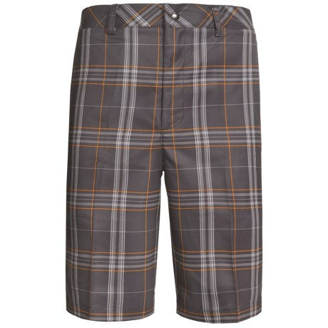 Zero Restriction Plaid Tech Shorts (For Men)
