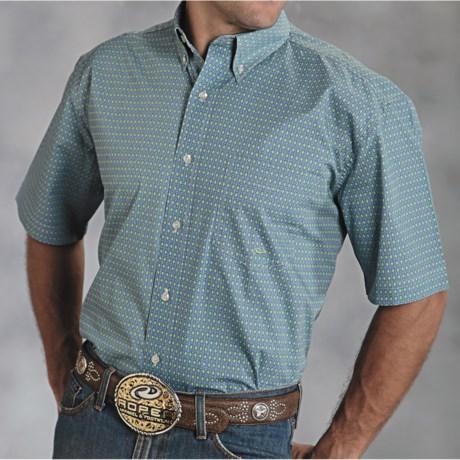 Roper Amarillo Diamond Print Shirt - Short Sleeve (For Men)
