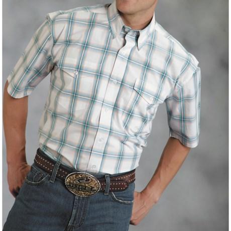Roper Amarillo Copper Mesa Shirt - Cotton , Short Sleeve (For Men)