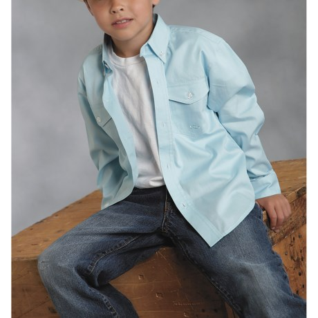 Roper Amarillo Shirt - Button Front, Long Sleeve (For Boys)