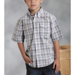 Roper Amarillo Shirt - Yarn-Dyed Plaid, Short Sleeve (For Boys)
