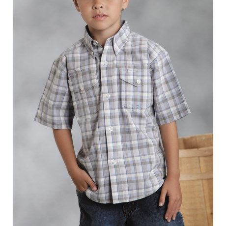 Roper Amarillo Shirt - Yarn-Dyed Plaid, Short Sleeve (For Boys)