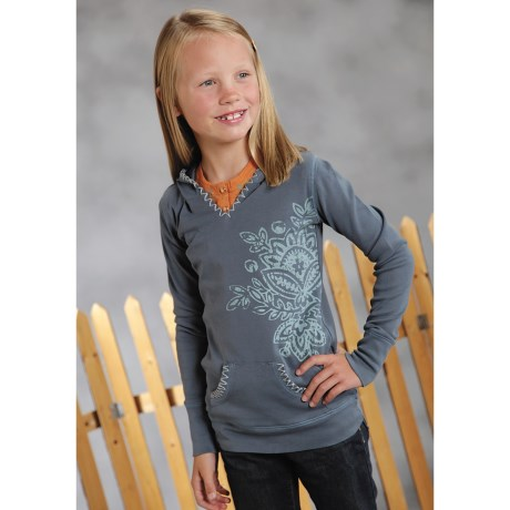Roper Pullover Hoodie Sweatshirt (For Girls)