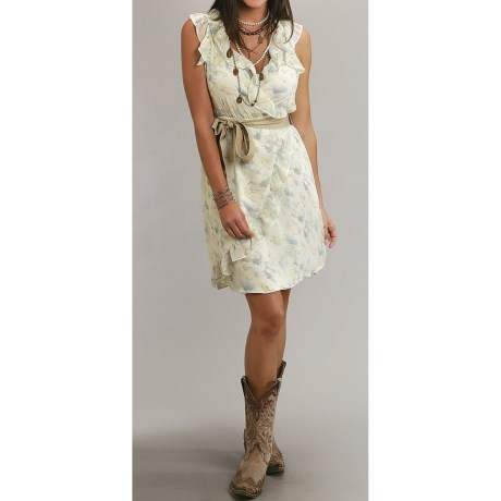 Stetson Spring Floral-Print Chiffon Dress - Sleeveless (For Women)