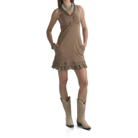 Roper Spring Blossom Cotton Jersey Dress - V-Neck (For Women)