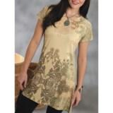 Roper Creme de La Creme Tunic Shirt - Sweater-Knit Jersey, Short Sleeve (For Women)