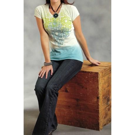 Roper Tropical Breeze Cotton Shirt - Short Sleeve (For Women)
