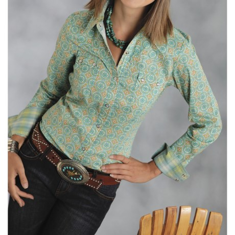 Roper Tropical Breeze Shirt - Long Sleeve (For Women)