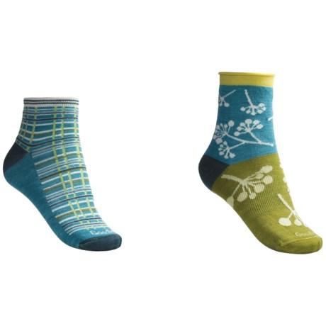 Goodhew Twig/Madras Socks - 2-Pack (For Women)