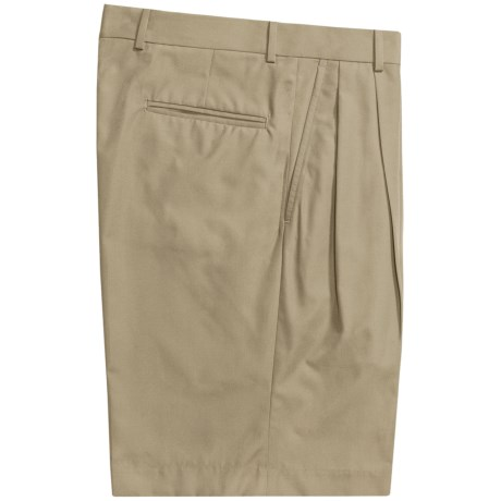 Corbin Prime Poplin Walking Shorts - Pleats (For Men)
