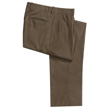 Corbin Worsted Wool Pants - Forward Pleats (For Men)