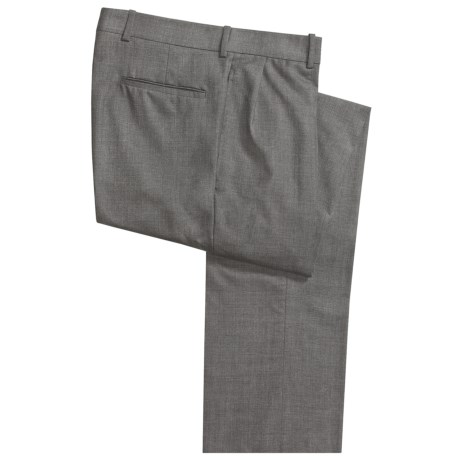 Corbin Worsted Wool Dress Pants - Forward Pleats (For Men)