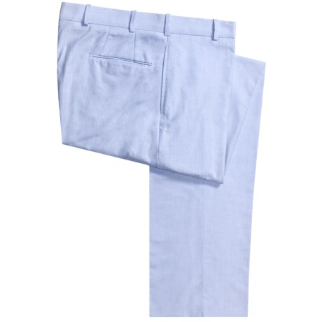 Corbin Cotton Oxford Pants - Flat Front (For Men)