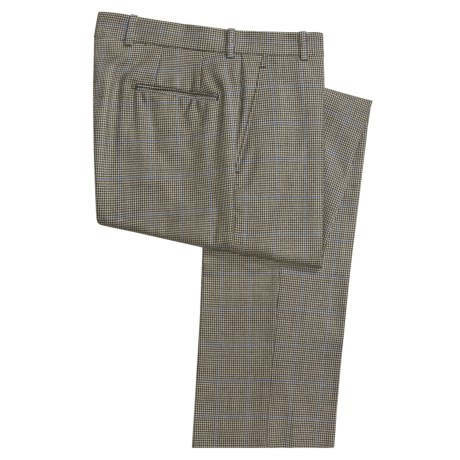 Corbin Wool Plaid Dress Pants - Flat Front (For Men)