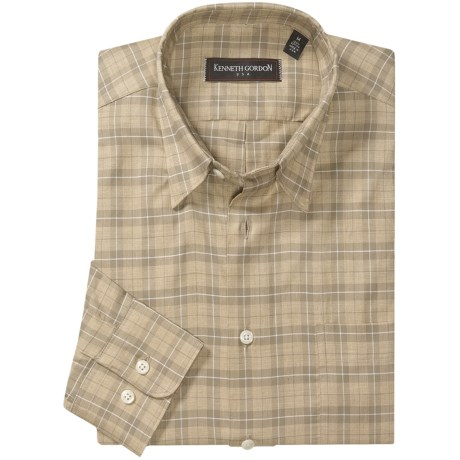 Kenneth Gordon Plaid Sport Shirt - Long Sleeve (For Men)